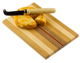 Walnut, Maple and Cherry Cutting Board - Cheese Board -  Sandwich Board Cheeseboard