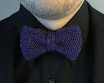 Knit Pre-Tied Bow Tie - Hand Knit - The Moss