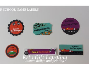 40 Stick On - Waterproof, Microwave proof, Dishwasher Safe Vinyl Name Labels. Ideal for School or Daycare. Space.