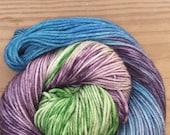 My secret garden,  hand dyed yarn, worsted  weight, indie dyed yarn,