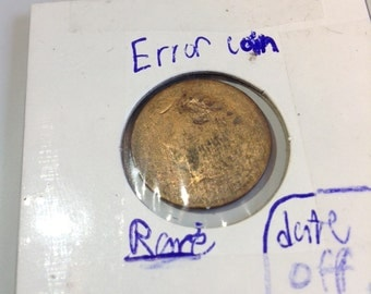 Rare Error Indian Head Penny- Off Center Date to the left!