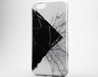 Quote iPhone Case Marble iPhone 7 Case White and Black Marble Samsung Galaxy Case iPhone SE Cover iPhone 6 Case iPhone 7 Plus Case Xperia Z3