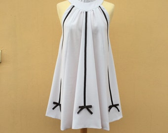 Dress, cocktail dress, white dress//made in Italy