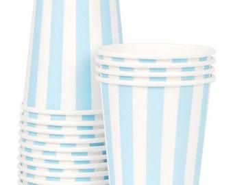 Powder Blue Paper Cups