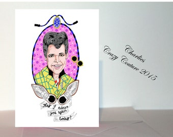 Duckie (Pretty in Pink) Valentines card A5 or A6 in size