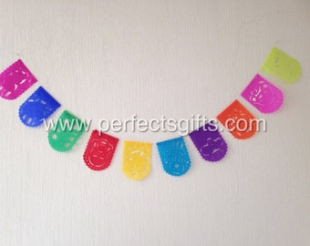 Mexican Fiesta - Party - Small Papel Picado Banners -  10 banners each.