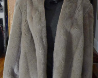 Ladies Vintage Faux Fur Hooded Coat Jacket