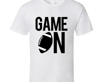 Game On Fun Football Game Day Graphic Fan Tee Shirt