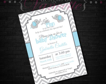 Elephant Baby Shower Invite, Elephant Baby Shower Invitation, Elephant Baby Shower, Elephant Invite, Elephant Invitation, Baby Shower Invite