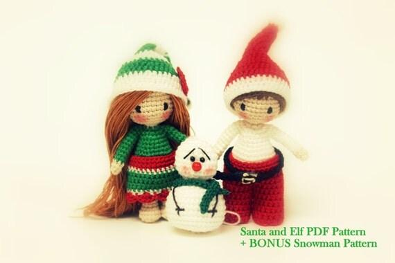 Tutorial Elfi Amigurumi : Amigurumi Pattern Santa Tutorial Crochet Elf by ...