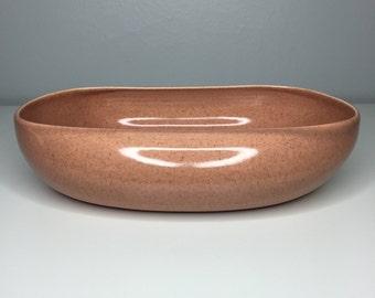 vintage Russel Wright vegetable bowl in American Modern Coral