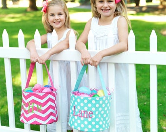 Monogram Easter Buckets - Customized Easter Basket - Monogram Easter Egg Basket - Easter Egg Bucket