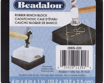 Beadalon 4 x 4-inch Rubber Bench Block