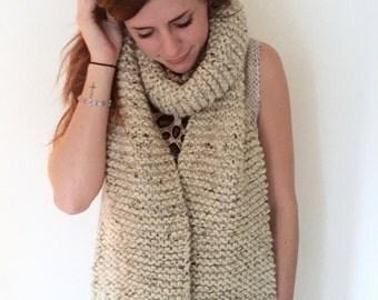 fringe chunky scarf