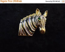 Now On Sale Vintage Zebra Brooch Pin Retro Collectible Costume Jewelry