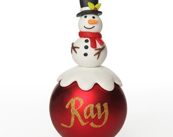 Red Snowman Christmas Character