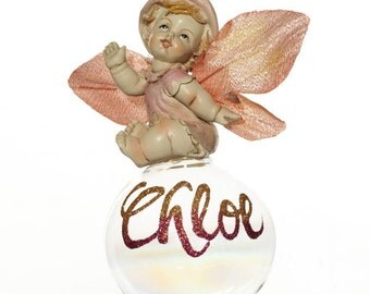 Personalised Pink Gumnut Baby Bauble
