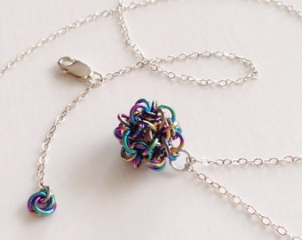 Japanese Ball Chainmaille Pendant and Chain