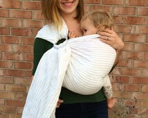 Double Layer Ring Sling Baby Sling Newborn Baby Wrap Toddler Carrier-Instructions Included