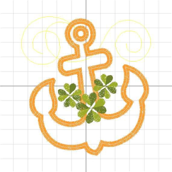 Anchor Series Shamrock Clover St Patricks Day Nautical