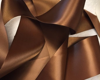 Brown Satin Ribbon/Root Beer Satin Ribbon/Brown Ribbon/Brown Wedding Belt/Brown Satin Sash/Brown Bridal Sash/Brown Ribbon/Dark Brown Ribbon