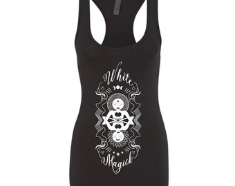 White Magick Racerback | Thelema Crowley Magic