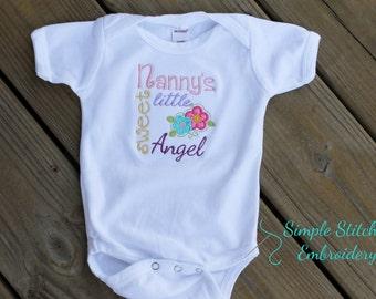 Nanny's Little Angel Onesie