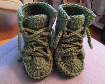Crochet Baby Combat Boot