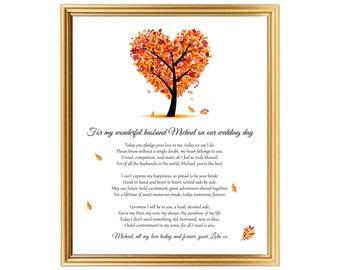 Groom gift from Bride - Groom gift - Gift for Groom - Personalized Groom gift - Poem for Groom from Bride - Wedding day gift for Husband