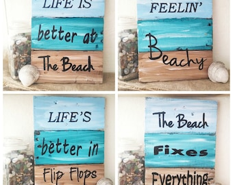 Rustic nautical pallet board art,  ocean signs, nautical decor, pallet board art, pallet board home decor, beach decor, photo prop,