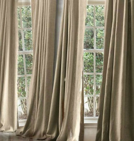 10 natural linen curtains drapes or linen blend for a better price