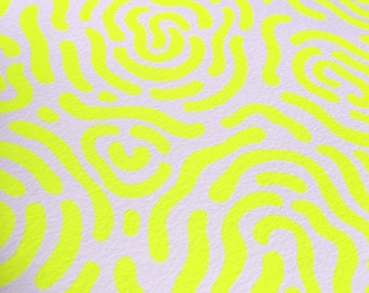 Psychedelic Abstract Fingerprint Pattern Screen Print (Glows under Black Light)