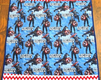 """NEW *Avengers Captain America* 40""""x45"""" *Stippling Quilted"""" Baby Nursery Crib Quilt Toddler Napping Bedding Stroller Travel Blanket"""
