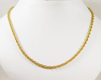 14k Yellow Gold Classic Rope Chain
