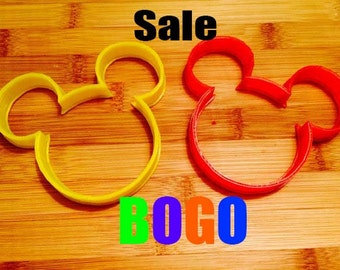 Mickey Mouse Cookie Cutter and Fondant,Disney Cookie Cutter,Select Size,Party Supply,Birthday Party,Children Party