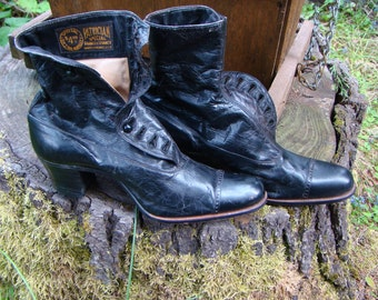 Victorian Leather Button Up Boots