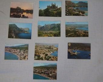 Vintage 1970's -  Blank - Mallorca Spain Postcard, Set of 10