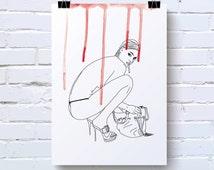 Poster, sexy women, naked, sensual, sexe, nude, boyfriend gift, fashion