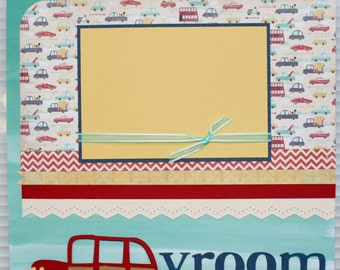 Vroom vroom - Two 12x12 Premade Pages or DIY Kit