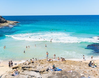 Bondi to Coogee Beach Photography, Beach Print, Sydney Photography, Bondi Beach Wall Art, Ocean Home Decor, Summertime Print, Large Wall Art