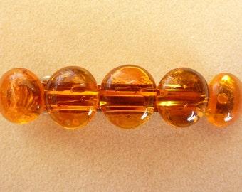 Glass Pebble Barrette 4in / 3 in