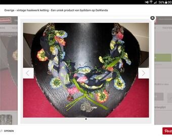 Oya unique crocheted necklace
