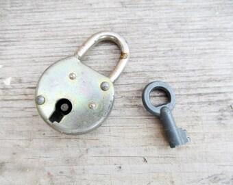 Padlock  mid century Vintage Lock and Keys  Old Padlock