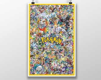 11x17 Pokemon Go Poster w/ 649 Characters