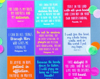 Mini Verse Cards - Pack of Nine Encouraging Bible Verse Cards