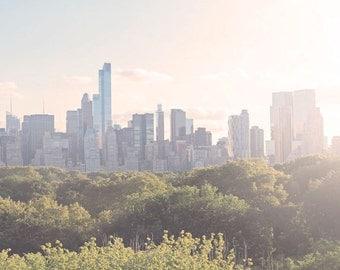 NYC Photography, New York Print, City Skyline, Central Park, Manhattan, Wall Art, Home Decor, New York Photograph, 5 x 7, 8 x 10 Print