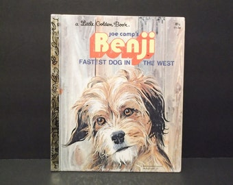 BENJI, Fastest Dog In The West, A Little Golden Book, circa 1970's
