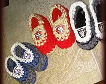 49ers Baby booties,Raiders baby booties Raiders cribshoes,Steelers booties,Cowboys crochet baby booties,packers baby booties,Broncos booties