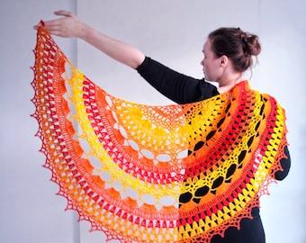 Crochet Shawl PATTERN - Crochet Wrap Pattern - Instant Download - PDF tutorial - Crochet Pattern - Fully Written - Fully Charted - Crafters.