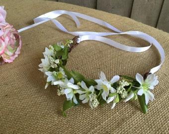 Flower girl wedding crown/ wedding crown/ crown/ first communion/ confirmation/ photo prop/ flower girl hair/ flower girl/ flower crown/ wed